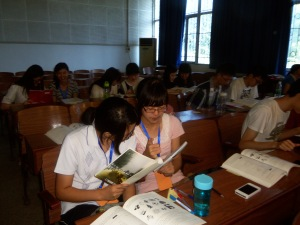 Students in my Wuhan University Summer Intensive English Program, Summer 2013